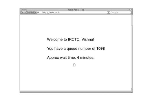 IRCTC Wait 1