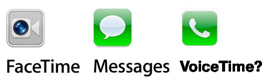 FaceTime. iMessage. VoiceTime?